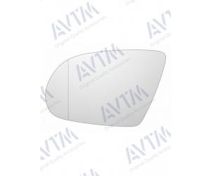Вкладыш в боковое зеркало (левый, асферич., с подогр.) для Audi A8 2010+ (Avtm, 186471789)