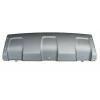 Накладка переднего бампера (нижняя, серый металлик) для Renault Duster 2010+ (Avtm, 185627920)
