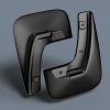 Брызговики передние (полиуретан, с расширителем арок) для Peugeot Boxer 2006-2010 (Novline, REIN.38.14.F18)