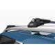 Поперечины на рейлинги (Turtle Air1, сер., с ключем, 2шт.) для Daihatsu Terios (F700) SUV 2006-2017 (Can-Otomotiv, MC01001-9098S)