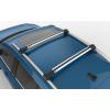 Поперечины на рейлинги (Turtle Air1, сер., с ключем, 2шт.) для Fiat Panda (169) Hb 2003-2011 (Can-Otomotiv, MC01001-9498S)