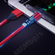 Магнитный кабель (3А, красный, Micro-Usb) для передача данных и быстрой зарядки (Kai, magkabred3a1m)