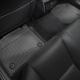 Коврик в салон (с бортиком, задние, черные) для Lexus LS460 Short 2013-2017 (Weathertech, 445142)