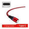 Магнитный кабель (3А, красный, USB Type-C) для передача данных и быстрой зарядки (Kai, magkabred2)