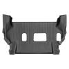 Коврик в салон (с бортиком, задние, без консоли, черные, 3 ряд) для Infiniti QX80/QX56 2014-2018 (Weathertech, 449562)