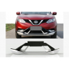 Комплект накладок на передний и задний бампер V3 для Nissan Qashqai 2014+ (Cixtai, cxk-ns02-1005/06)