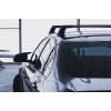 Поперечины на гладкую крышу (Turtle Air3, сер., с ключем, 2шт.) для Mitsubishi L200 (Mk5) Double Cab 2015+ (Can-Otomotiv, MC03008-9094S)