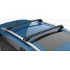 Поперечины на рейлинги (Turtle Air1, черн., с ключем, 2шт.) для Ford Ranger (T6) Double Cab 2011-2015 (Can-Otomotiv, MC01001-9494B)