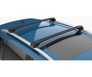 Поперечины на рейлинги (Turtle Air1, черн., с ключем, 2шт.) для Hyundai Lavita (FC) Mpv 2001-2010 (Can-Otomotiv, MC01001-8282B)
