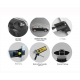 Поперечины на рейлинги (Turtle Air1, черн., с ключем, 2шт.) для Suzuki Grand Vitara XL7 Suv 2007-2010 (Can-Otomotiv, MC01001-7878B)