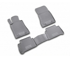 Коврики 3D в салон (4 шт., полиуретан) для Kia Rio 2011+ (Novline, NLC.3D.25.38.210h)