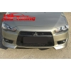"""Юбка переднего бампера """"Intense"""" (боковые """"клыки"""") для Mitsubishi Lancer X (AD-Tuning, ML117)"""