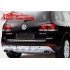 """Накладка на задний бампер """"OEM Style"""" для Volkswagen Touareg 2007- (AD-Tuning, VWTG.RPS.01)"""